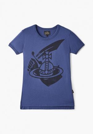 Футболка Vivienne Westwood Anglomania. Цвет: синий