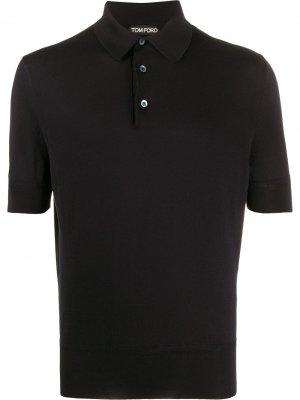 Рубашка-поло с короткими рукавами Tom Ford. Цвет: черный