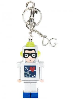 Брелок в форме робота Dolce & Gabbana. Цвет: металлик