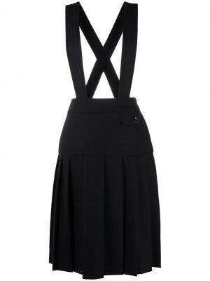Плиссированная юбка с завышенной талией Victoria Beckham. Цвет: синий