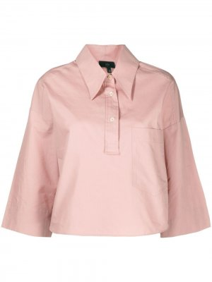 Укороченная рубашка с рукавами три четверти Jejia. Цвет: розовый