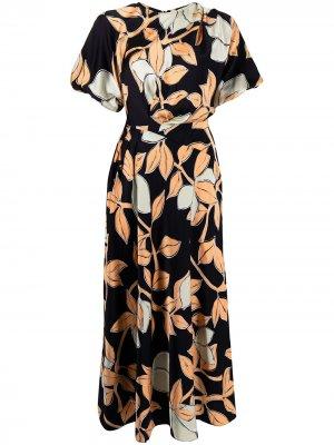 Платье миди Aubrie с принтом Stine Goya. Цвет: черный