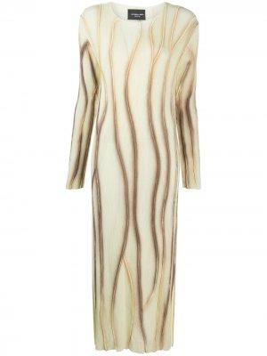 Платье Mabel с эффектом распыленной краски Antonella Rizza. Цвет: желтый