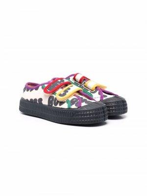 Кроссовки на липучках с логотипом Bobo Choses. Цвет: нейтральные цвета