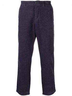 Фактурные укороченные брюки средней посадки YMC. Цвет: синий