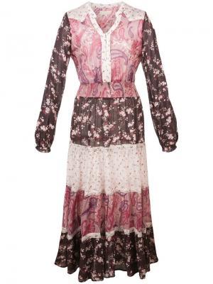 Платье миди в стиле бохо By Timo. Цвет: розовый