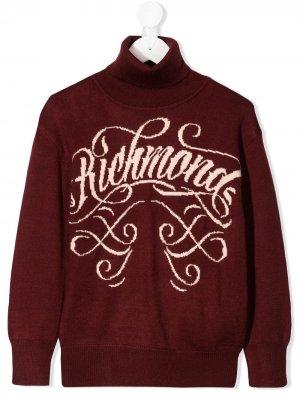 Logo knitted jumper John Richmond Junior. Цвет: красный