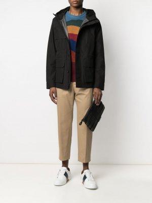 Куртка с капюшоном и карманами Woolrich. Цвет: черный