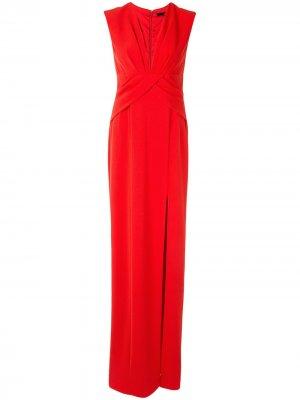 Вечернее платье с запахом Jay Godfrey. Цвет: красный