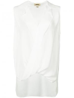 Блузка с V-образным вырезом L'agence. Цвет: белый