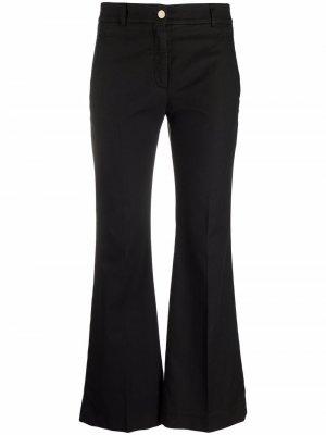 Укороченные расклешенные брюки Incotex. Цвет: черный