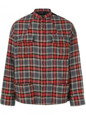 Рубашка в клетку Haider Ackermann. Цвет: красный