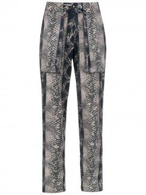 Printed trousers Amir Slama. Цвет: черный