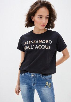 Футболка Alessandro DellAcqua Dell'Acqua. Цвет: черный