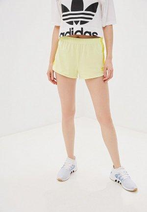 Шорты спортивные adidas Originals. Цвет: желтый