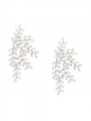 Серьги с кристаллами Jennifer Behr. Цвет: серебристый