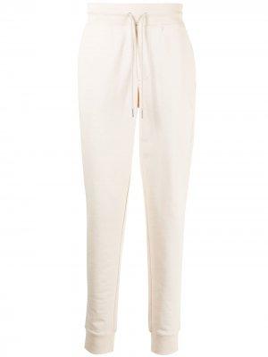 Спортивные брюки с кулиской Moncler. Цвет: белый
