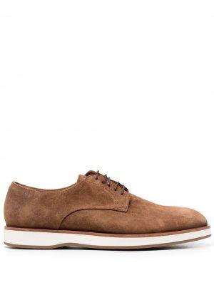 Туфли дерби на шнуровке Boss Hugo. Цвет: коричневый