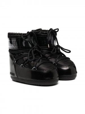 Зимние сапоги Classic Low 2 Moon Boot Kids. Цвет: черный