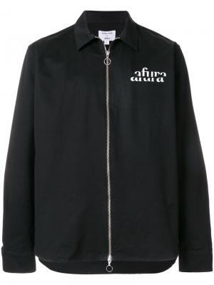 Легкая куртка на молнии Soulland. Цвет: черный