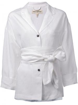 Рубашка с поясом Mara Hoffman. Цвет: белый