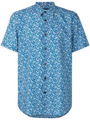 Рубашка с растительным принтом Ps By Paul Smith. Цвет: синий