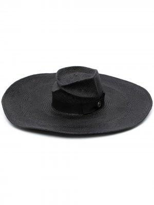 Плетеная шляпа Caviar Gladys Tamez. Цвет: черный