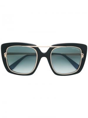 Солнцезащитные очки в квадратной оправе Tom Ford Eyewear. Цвет: черный