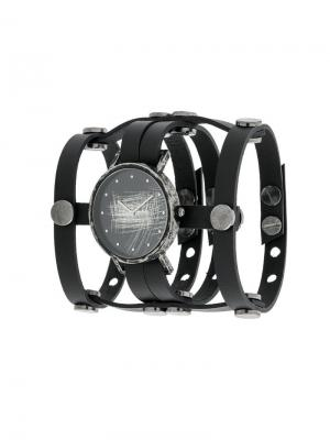 SOUTH LANE x AUMORFIA Gladiator strapped watch. Цвет: черный
