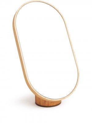 Зеркало Woodturn Tre Product. Цвет: нейтральные цвета