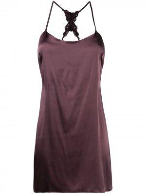 Платье с драпировкой Fleur Of England. Цвет: фиолетовый