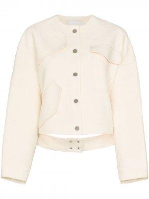 Куртка с накладными карманами Tibi. Цвет: нейтральные цвета