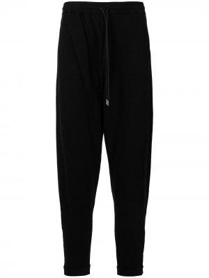 Спортивные брюки с низким шаговым швом Isabel Benenato. Цвет: черный
