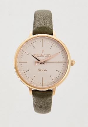Часы Trussardi. Цвет: зеленый