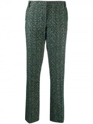 LAutre Chose фактурные брюки с принтом L'Autre. Цвет: зеленый
