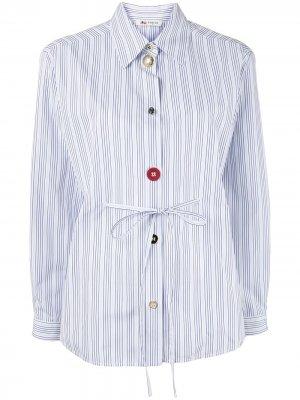 Рубашка в тонкую полоску на пуговицах Ports 1961. Цвет: белый