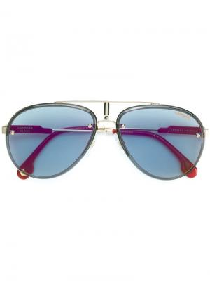 Солнцезащитные очки-авиаторы Glory Carrera. Цвет: золотистый