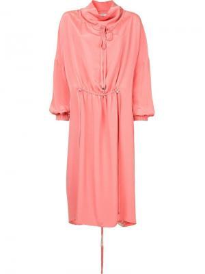 Платье с завязкой Tibi. Цвет: розовый