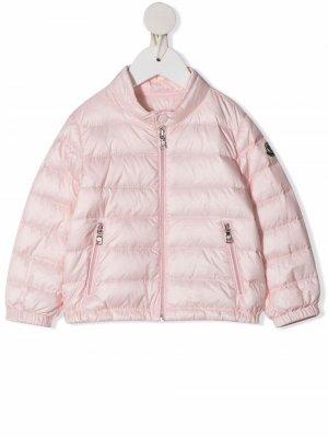Пуховик на молнии Moncler Enfant. Цвет: розовый