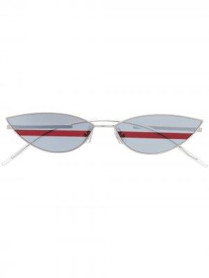 Солнцезащитные очки Poxi в оправе кошачий глаз Gentle Monster. Цвет: синий