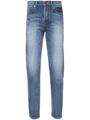 Зауженные джинсы кроя слим Saint Laurent. Цвет: синий