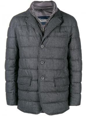Утепленная куртка Herno. Цвет: серый