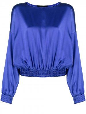 Блузка с эластичным подолом Styland. Цвет: фиолетовый