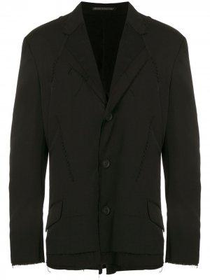 Многослойный пиджак Yohji Yamamoto. Цвет: черный
