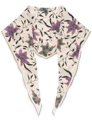 Шаль с цветочным принтом Isabel Marant. Цвет: нейтральные цвета