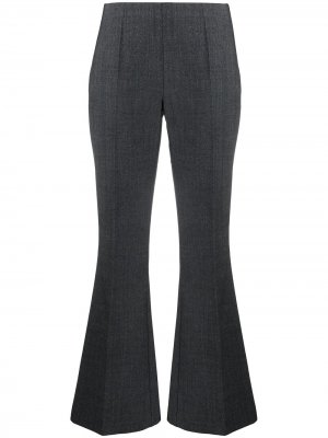 Укороченные расклешенные брюки P.A.R.O.S.H.. Цвет: серый