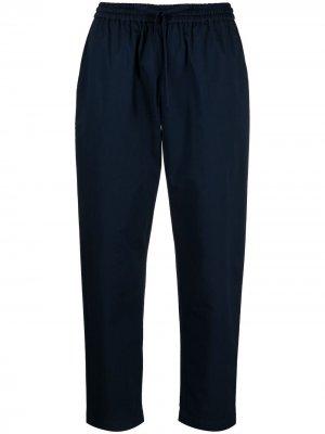 Укороченные брюки с кулиской Semicouture. Цвет: синий