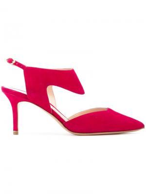 Туфли Leda 70мм Nicholas Kirkwood. Цвет: розовый и фиолетовый