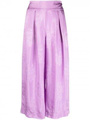 Укороченные брюки широкого кроя Pinko. Цвет: фиолетовый