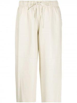 Укороченные брюки палаццо Yves Salomon. Цвет: нейтральные цвета